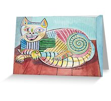 Picasso Cat Greeting Card
