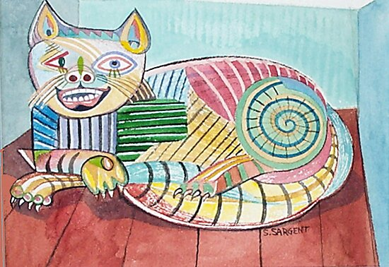 Picasso Cat by Sally Sargent