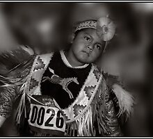 Portrait of a Proud Young Dancer, Schemetzun Pow Wow by Wayne King