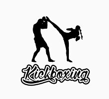 Kickboxing Spinning Back Kick Black  Unisex T-Shirt