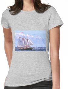 The fun ship Mary E Womens Fitted T-Shirt