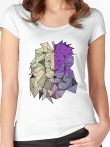Geometric Leo in Color Women's Fitted Scoop T-Shirt