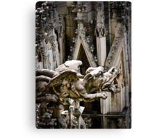 Do Gargoyles Dream of Stone Sheep? Canvas Print