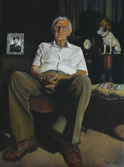 JIM AT 92 by Wayne Dowsent