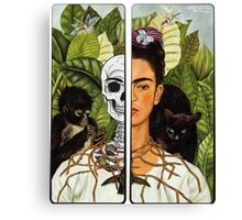 Frida Kahlo - Self Portrait (1940) Skeleton Version Canvas Print