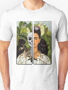 Frida Kahlo - Self Portrait (1940) Skeleton Version Unisex T-Shirt