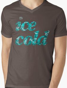 Ice cold letters Mens V-Neck T-Shirt