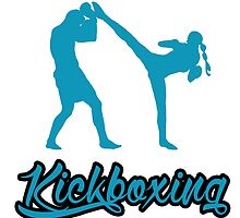 Kickboxing Female Spinning Back Kick Blue  by yin888