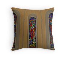 RELIGIOUS STAINEDGLASS Throw Pillow