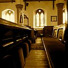 Church Pews- St Kentigerns. by Lou Wilson