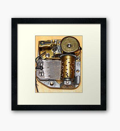 Music Box Mechanism Framed Print