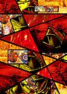 Stain Glass Image Collage (red,yellow) by Kayleigh Walmsley