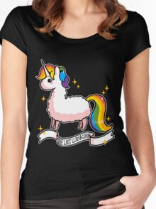 The Last Llamacorn Women's Fitted Scoop T-Shirt