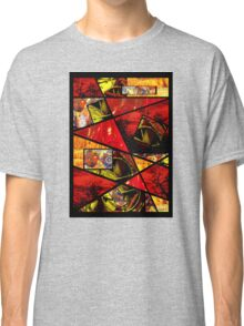 Stain Glass Image Collage (red,yellow) Classic T-Shirt