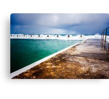 Merewether Ocean Baths before the Storm Canvas Print