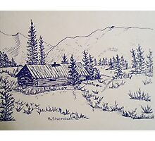 THE OFT-REPEATED DREAM - Mountain Cabin Photographic Print
