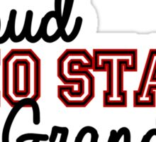 Proud Ohio State Grandma for Darker Backgrounds Sticker