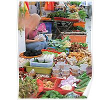 A Lady and Her Produce - Melaka, Malaysia Poster