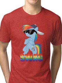 Rainbow Dash has ALL the SWAG Tri-blend T-Shirt