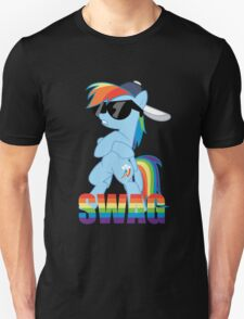 Rainbow Dash has ALL the SWAG Unisex T-Shirt