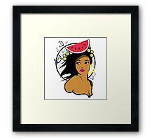 Hawaiian music girl Framed Print