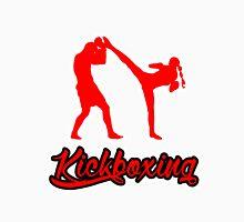 Kickboxing Female Spinning Back Kick Red  Unisex T-Shirt