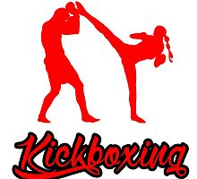 Kickboxing Female Spinning Back Kick Red  by yin888