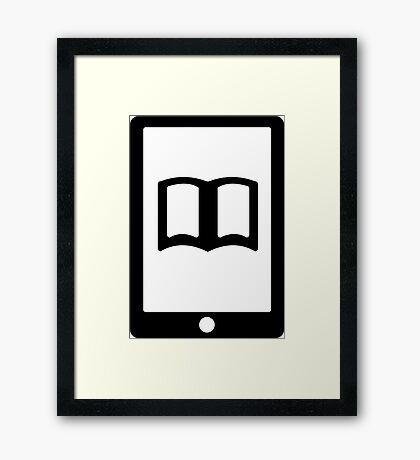 E Book Reader Framed Print