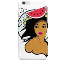 Hawaiian music girl iPhone Case/Skin