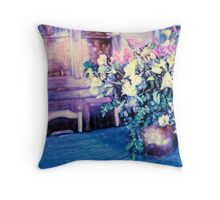 Flowers on the Table Throw Pillow