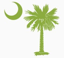 Lime Green Palmetto Moon by PalmettoTrading