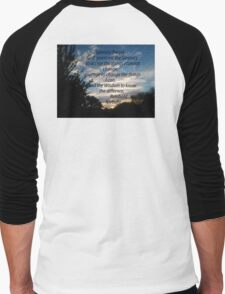 SERENITY PRAYER, USING PALM DESERT SURNRISE AS BACKDROP  Men's Baseball ¾ T-Shirt