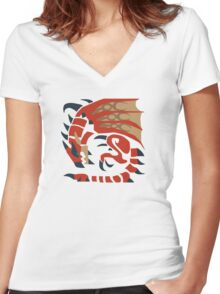 Rathalos Stuff!! Women's Fitted V-Neck T-Shirt