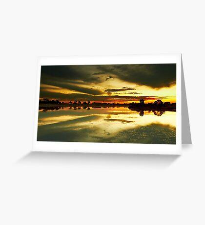 The Burnt Lake - The Lakes Golf Club NSW Greeting Card