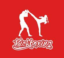 Kickboxing Female Spinning Back Kick White  T-Shirt