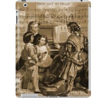 Thou Art So Dear Music - Mom And Children At Piano iPad Case/Skin
