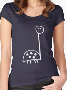 longneck dinosaur Women's Fitted Scoop T-Shirt