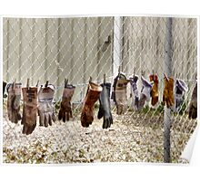 Gloves Hung Out To Dry Poster