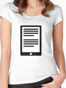 E-Book Reader Women's Fitted Scoop T-Shirt