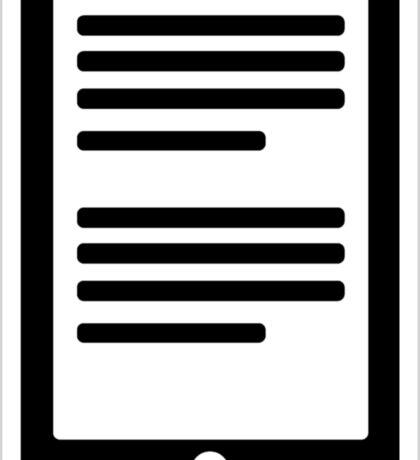 E-Book Reader Sticker