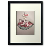 Watch out for the blade ( This is Heavy Metal ) Framed Print