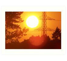 The Beautiful  Sun Set Art Print