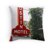 Austin Motel Throw Pillow