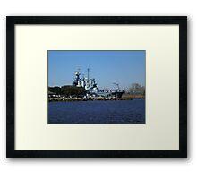 NC Battleship Framed Print