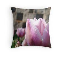 Floral Tulip Flower Garden art Baslee Troutman Throw Pillow