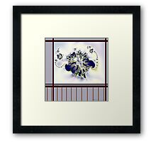 """Flower in the Window"" Framed Print"
