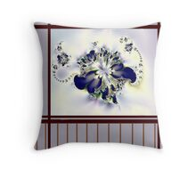 """Flower in the Window"" Throw Pillow"