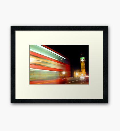 Fast Bus Framed Print