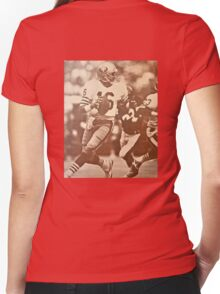 MR COOL JOE MONTANA Women's Fitted V-Neck T-Shirt