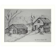 THE SOUND OF THE TREES - homestead in the backcountry Art Print